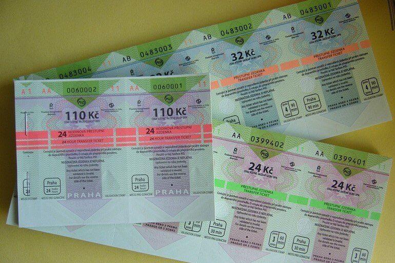 Билеты на общественный транспорт в Праге 2019