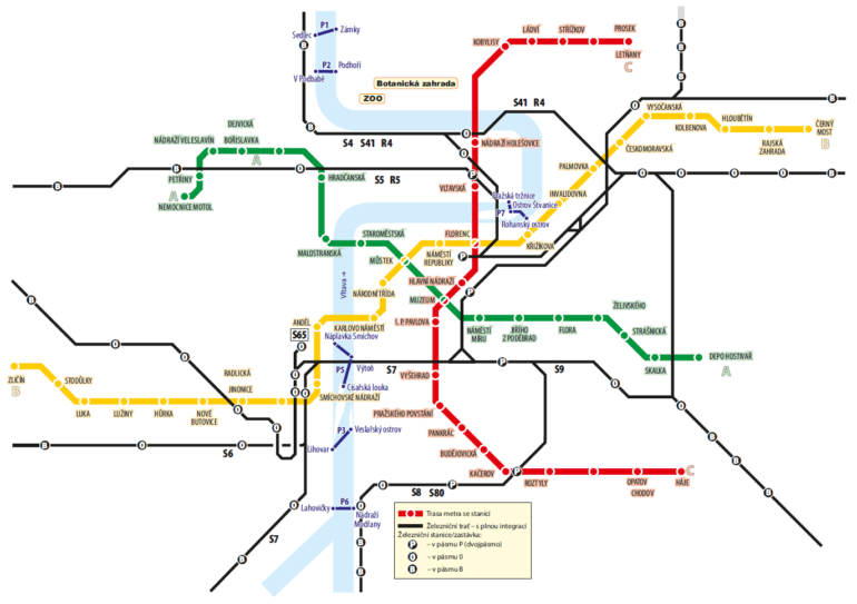 Карта паромов Праги 2021